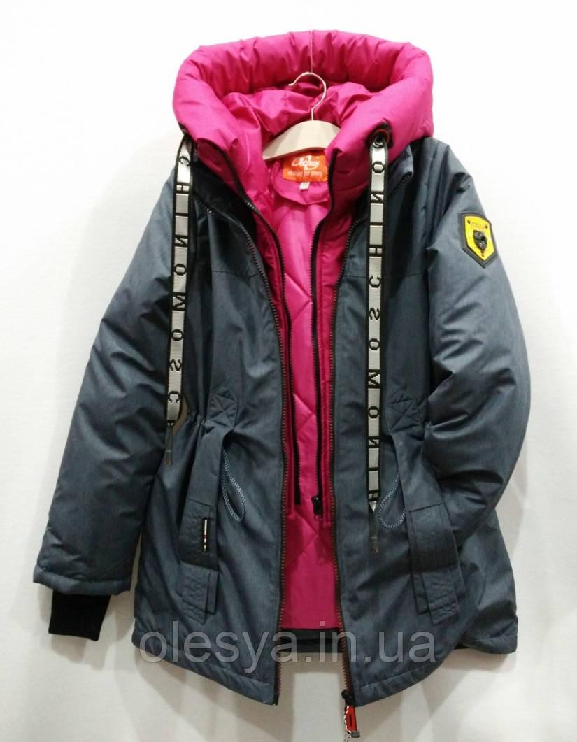 Демисезонная Куртка парка для девочек Размер 38 ( 140-146)