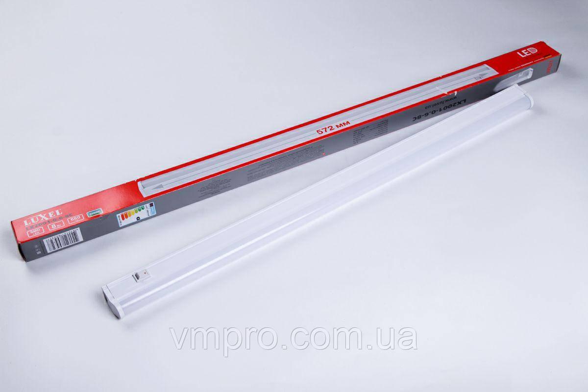 Лампа LED, светильник Luxel T5 0.6-8W, 6000K (LX2001-0.6-8C)