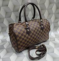 Сумка женская бочонок копия Louis Vuitton Луи Виттон качественная эко-кожа коричневая