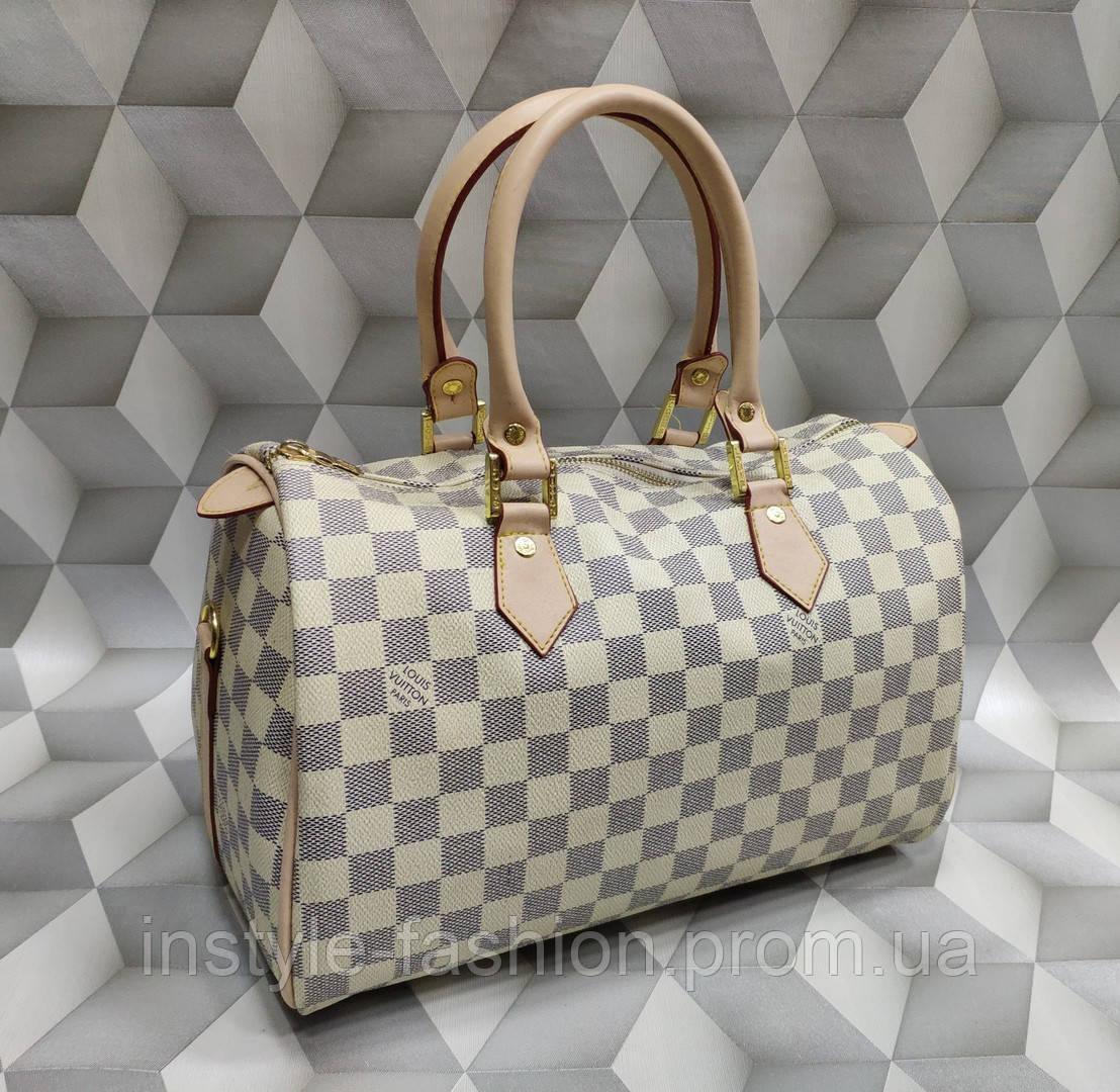 59595ee24e1e Сумка женская бочонок копия Louis Vuitton Луи Виттон качественная эко-кожа  белая