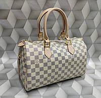 Сумка женская бочонок копия Louis Vuitton Луи Виттон качественная эко-кожа белая