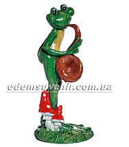 Садовая фигура Лягушки Трио музыканты, фото 2