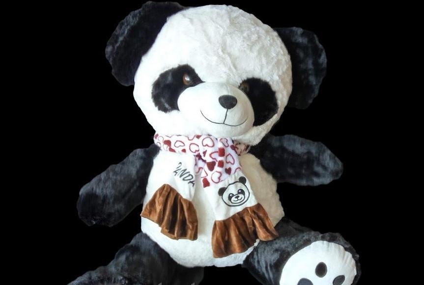 Панда 55 см мягкая детская игрушка милая Панда в красивом шарфе