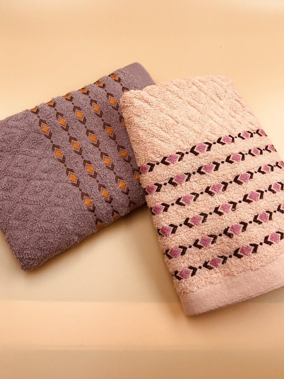 Набор полотенце махровых для лица 50х100 Ромбик мелкий - 2шт.
