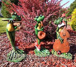 Садовая фигура Лягушки Трио музыканты, фото 3