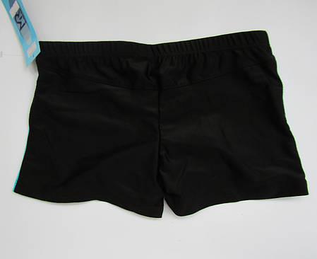 Детские плавки шорты на мальчика Черный + Салатовый, фото 2