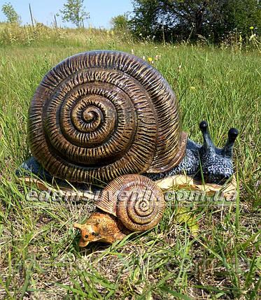 Садовая фигура Улитка большая и Улитка малая, фото 2