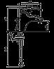 Смеситель для умывальника EMMEVI LUXOR SC7003RTC мат-хром, фото 2