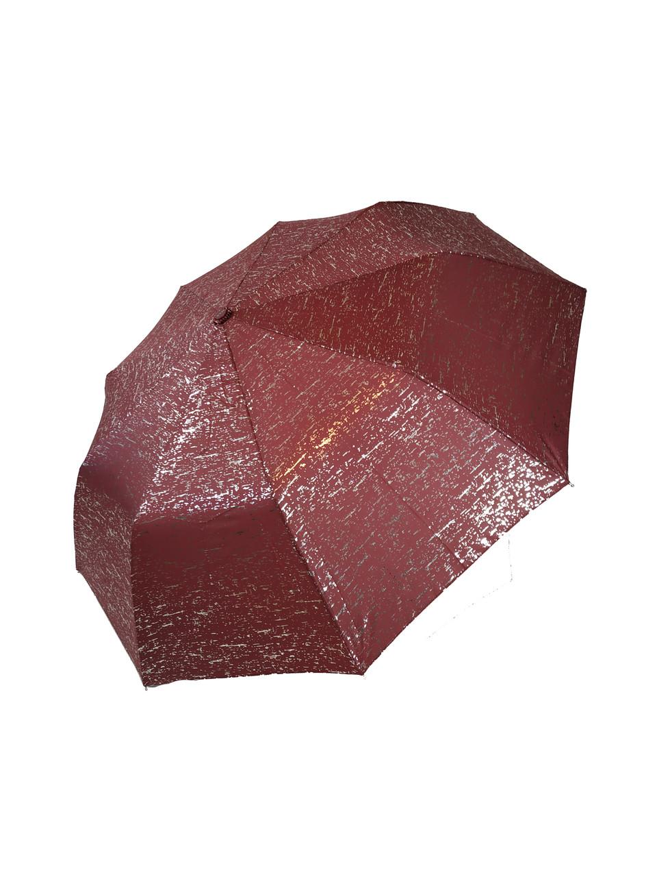 Женский зонт полуавтомат из серебряной абстракций Max, 0049-4