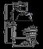 Смеситель для умывальника EMMEVI LUXOR CO7003R хром/золото, фото 2