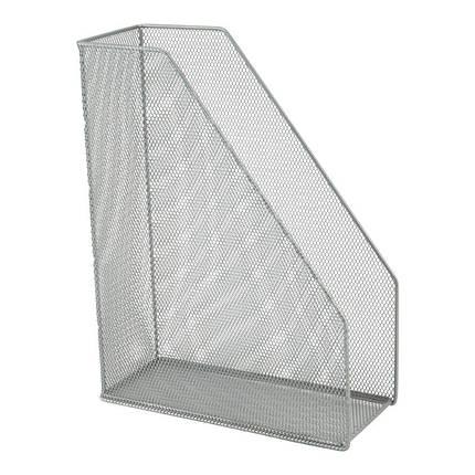 Лоток вертикальний металевий Axent 2120-03-A, 100x250x320 мм, сріблястий, фото 2