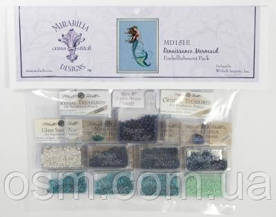 Бисер Renaissance Mermaid Mirabilia Designs Mill Hill Embellishment Pack