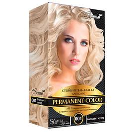 """Стойкая гель-краска для волос Slavia """"Permanent color"""""""