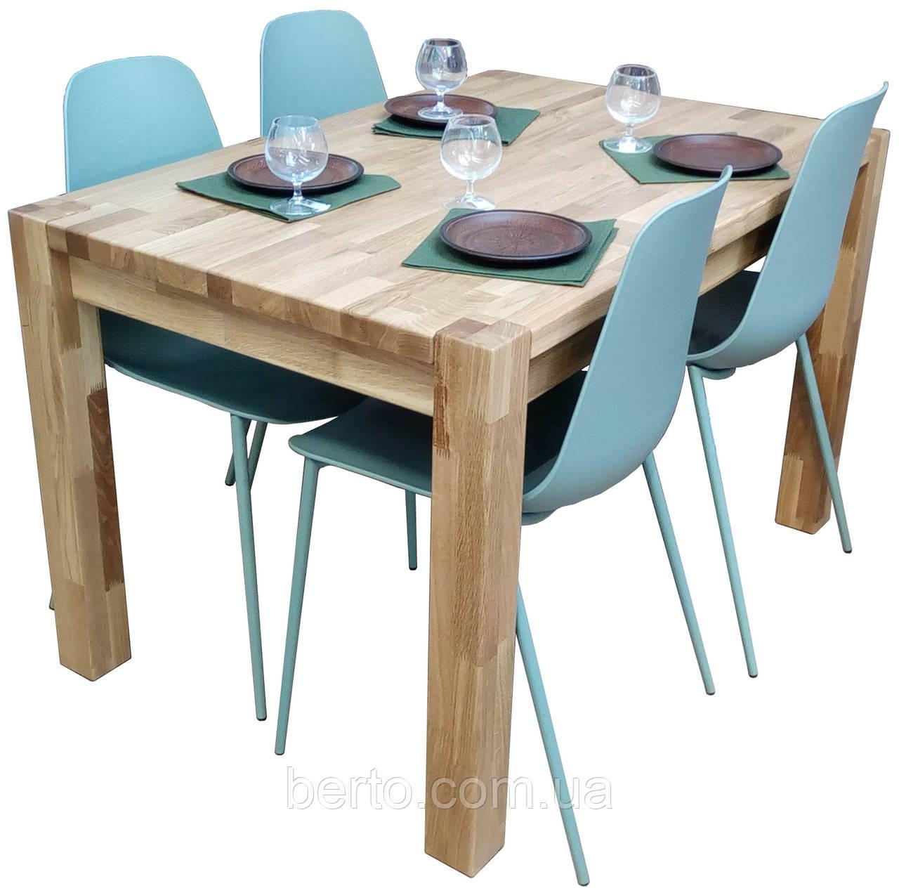 """Дубовый нераскладной стол """"Амберг люкс """" 120*80 см."""