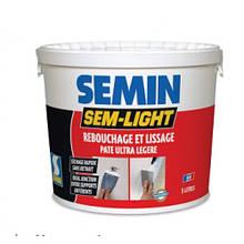 SEMIN Sem Light, 5кг Сверхлегкая эластичная безусадочная шпаклевка Семин для ремонта и заделки