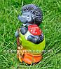 Садовая фигура Еж с метлой и Мухоморы, фото 5