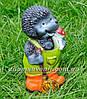 Садовая фигура Еж с метлой и Мухоморы, фото 4