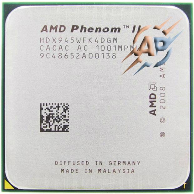 Процессор AMD Phenom II X4 945 3.0GHz 2000MHz (HDX945WFK4DGM) Socket AM2+/AM3 95W
