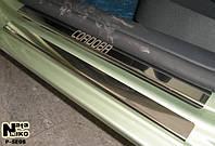 Накладки на пороги из н/с Seat CORDOBA III 5D 2003-2009гв
