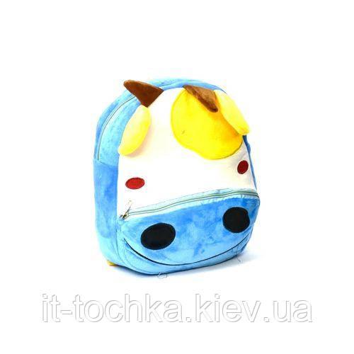 Детский мягкий рюкзак c31180 Единорог голубой
