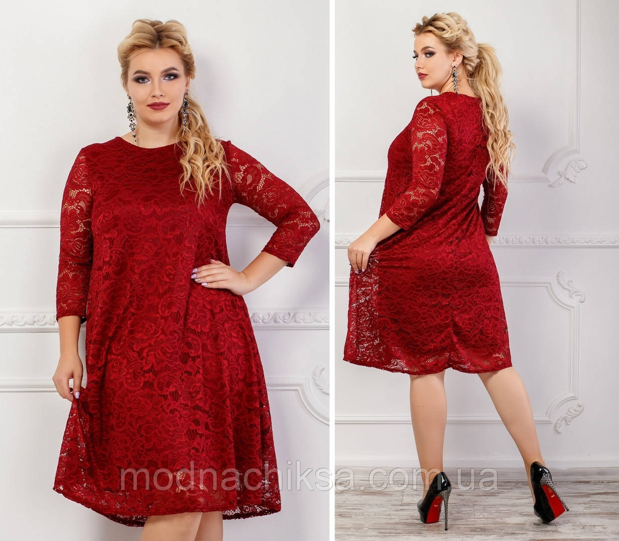 Платье гипюровый