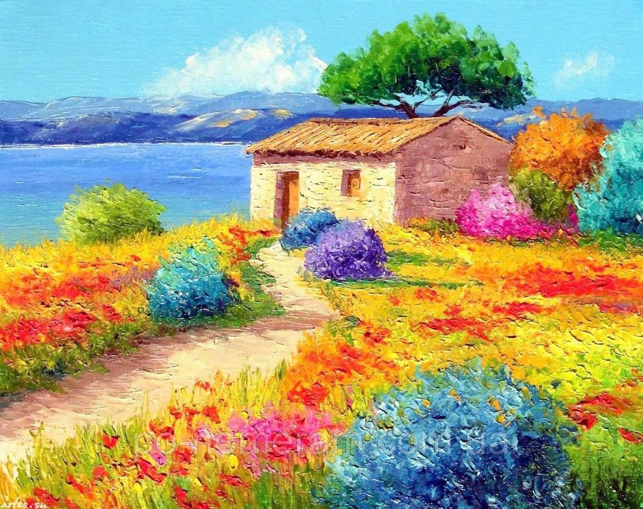 Алмазная вышивка Rainbow Art Приморский пейзаж (PDF28) 30 х 40 см (На подрамнике)