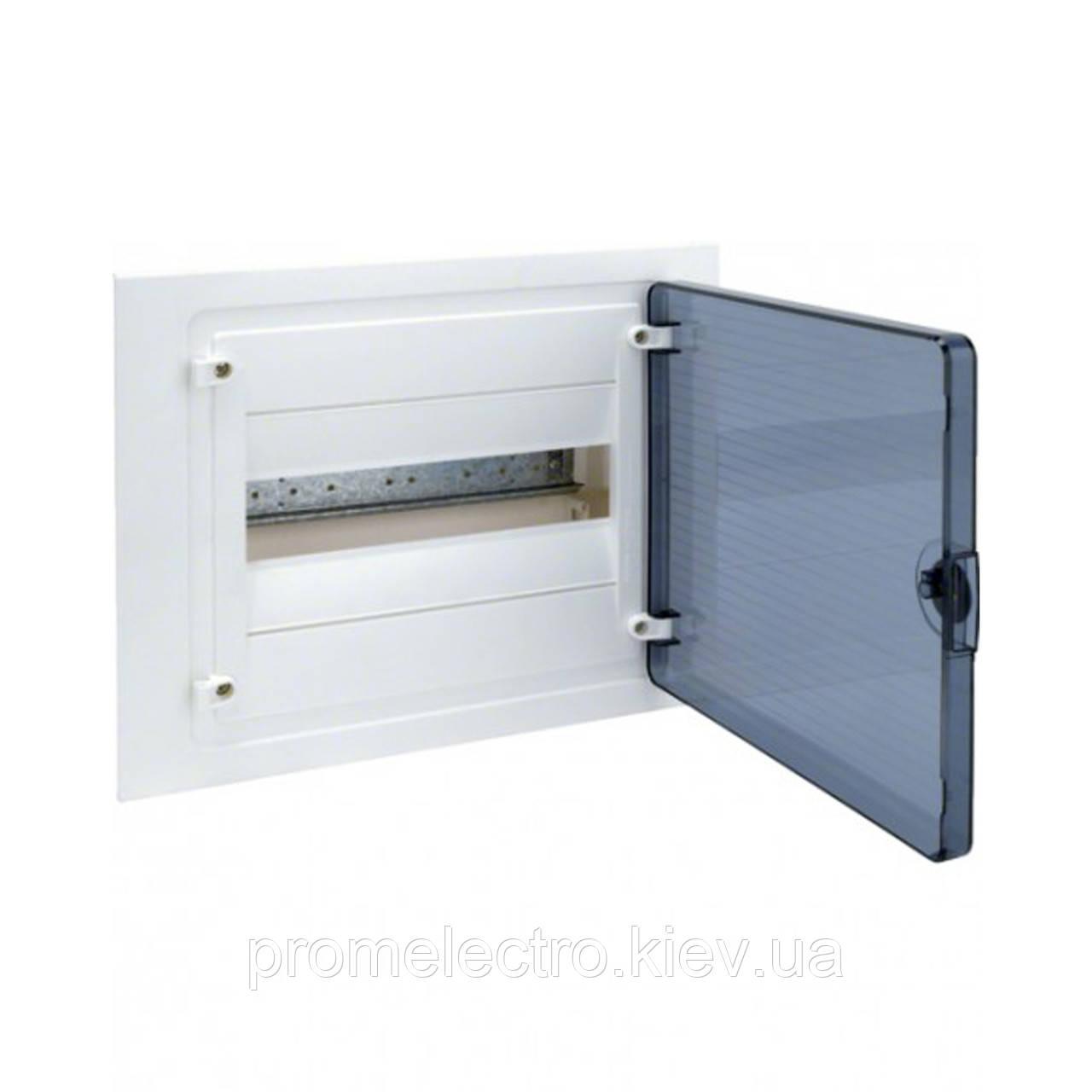 Щит розподільчий Hager GOLF VS112TD на 12 модуля, прозорі дверцята.