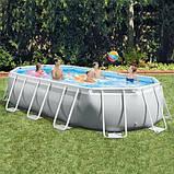 Каркасный бассейн Intex 26796, (503 x 274 x 122 см ) (Картриджный фильтр 5678 л/ч,тент, подстилка, лестница), фото 3