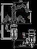 Смеситель для умывальника EMMEVI DECO ceramica BR121615 бронза, фото 2