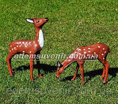 Садовая фигура Косуля и Косуля пасущаяся, фото 3