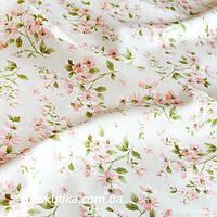 42007 Легкий сон. Летняя ткань хлопковая. Изящный цветочный принт. Ткань с мелким рисунком.