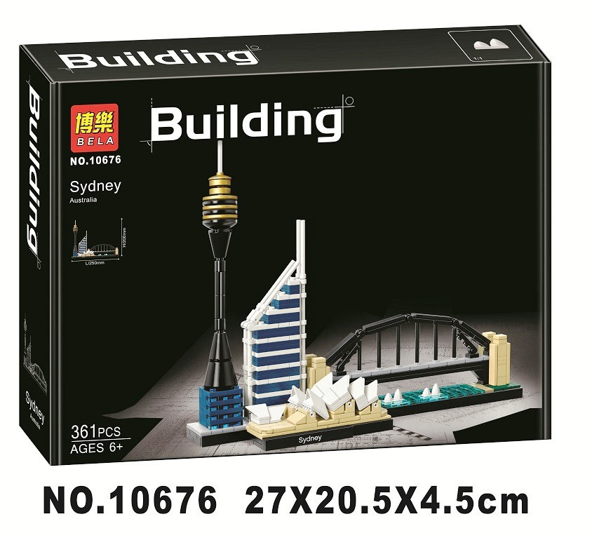 Конструктор Bela 10676 Architecture Сидней 361 деталей