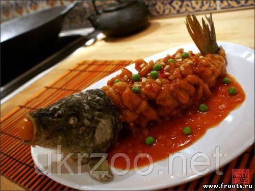Карп Суш-шу (белка) в кисло сладком соусе 1100 г