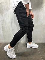мужские джинсы с манжетами с накладными карманами