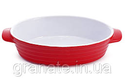 Форма для выпечки жаропрочная, керамика, цвет - красный 24х14,5х5,5 см