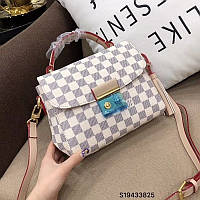 Сумка-клатч копия Louis Vuitton Луи Виттон качественная эко-кожа дорогой Китай белая