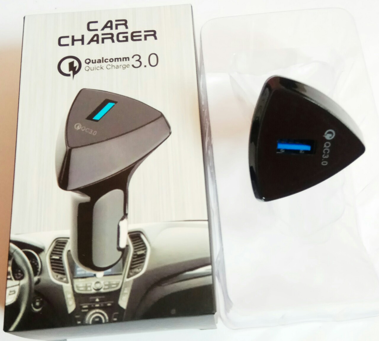 Адаптер зарядка авто 220V на USB QC 3.0 Fast Charge CAR блок питания