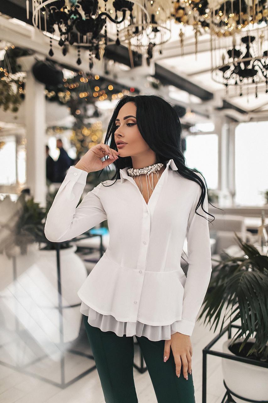 Женская рубашка Белый
