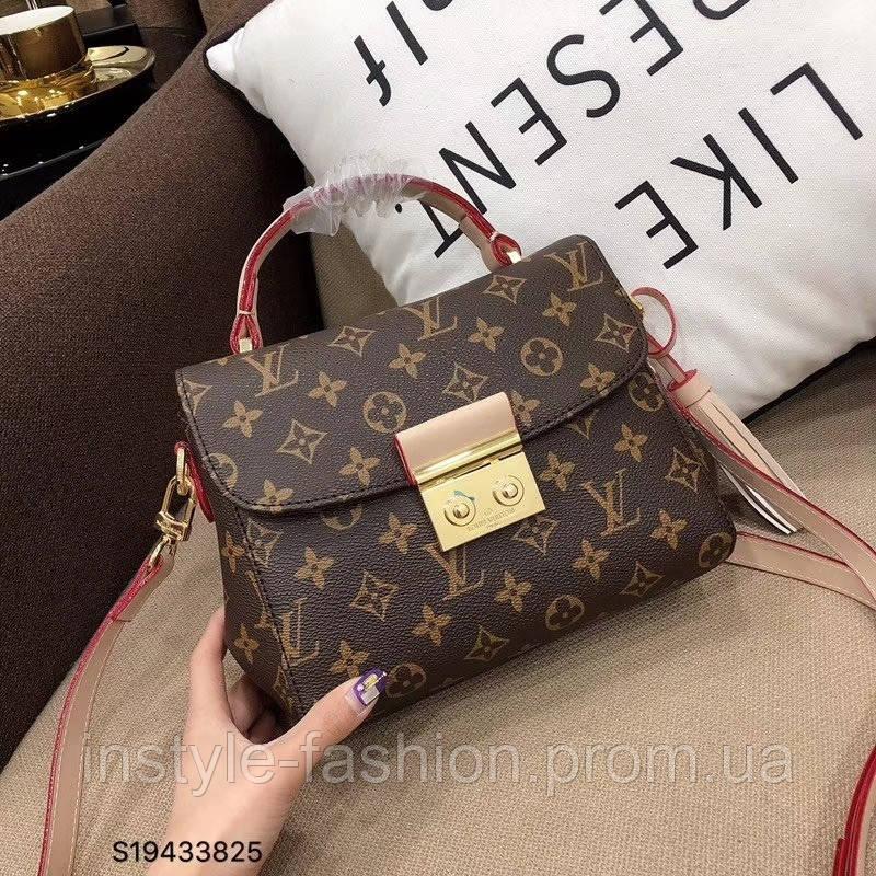 Сумка-клатч копия Louis Vuitton Луи Виттон качественная эко-кожа дорогой Китай коричневая