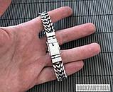 Серебряный мужской браслет Панцирный двойной, плетение панцирь серебро, фото 2