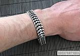 Серебряный мужской браслет Панцирный двойной, плетение панцирь серебро, фото 6