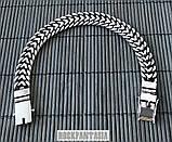 Серебряный мужской браслет Панцирный двойной, плетение панцирь серебро, фото 5