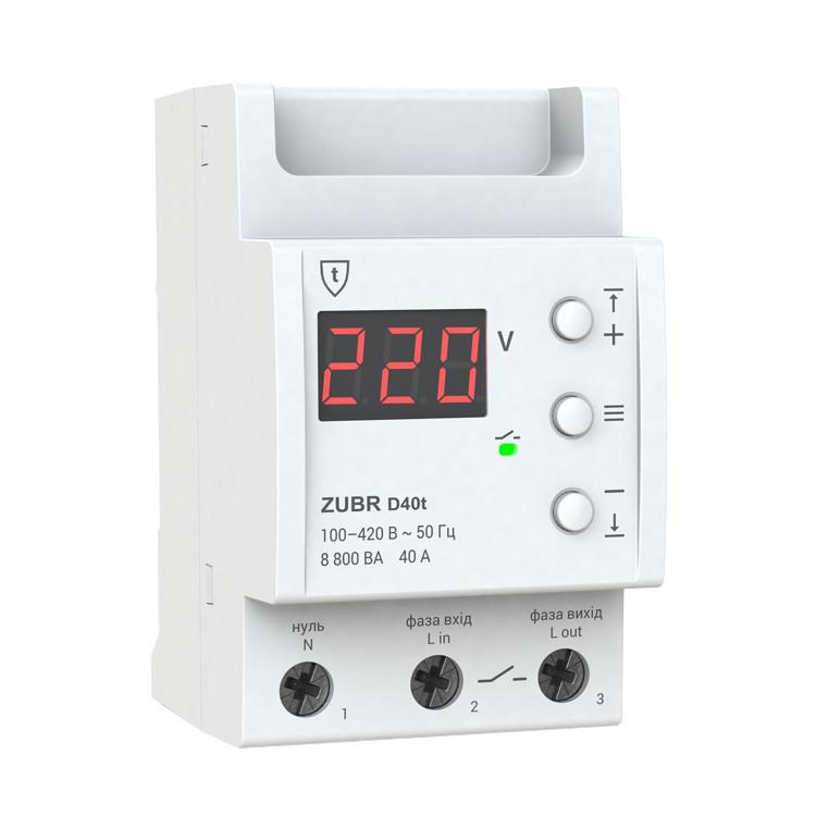 Реле контроля напряжения ZUBR D40t, фото 1