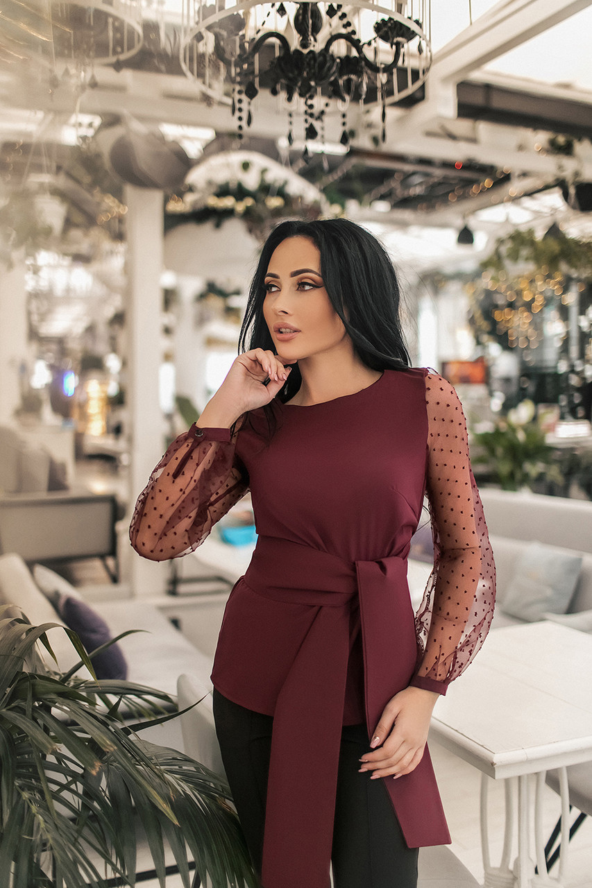 Женская блуза Бордовый