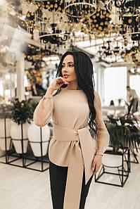Женская блуза Бежевый