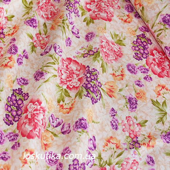 42018 Дыхание весны. Легкая летняя ткань. Американский хлопок. Подойдет для пошива платья, для кукол и декора.