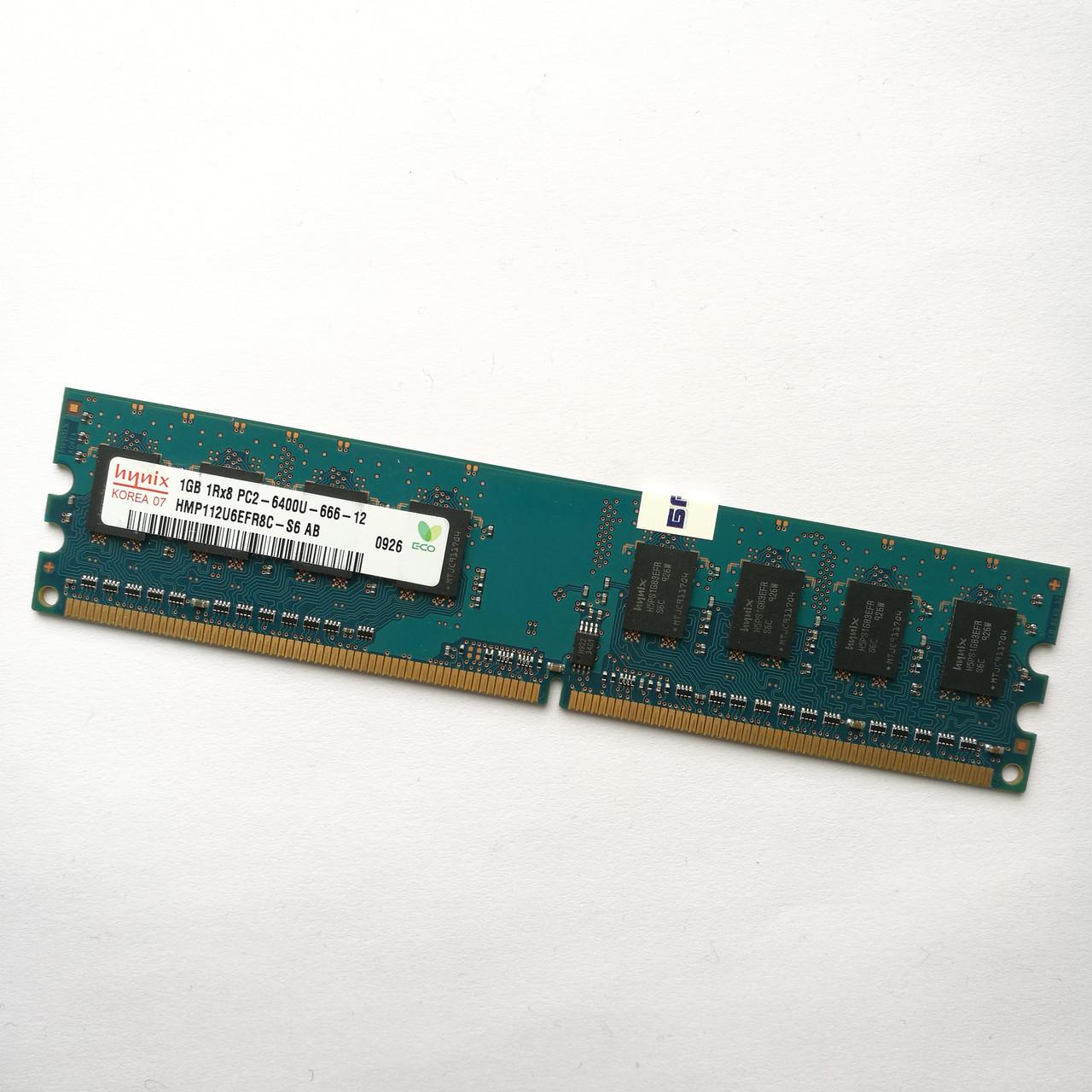 Оперативная память Hynix DDR2 1Gb 800MHz PC2 6400U CL6 (HMP112U6EFR8C-S6 AB) Б/У