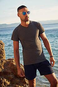 Мужская футболка с V-образным вырезом 61-066-0
