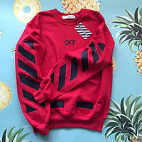 Свитшот Off-White Red/black. Унисекс. Материалы: 80% Хлопок, 20% Эластан, фото 1
