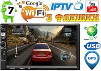 Автомагнитола Pioneer 8702 2DIN, GPS, Android 8.1, IpTV, WIFI, FM
